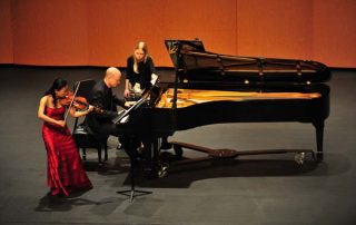 Qian Zhou, violin and Ned Kirk, piano